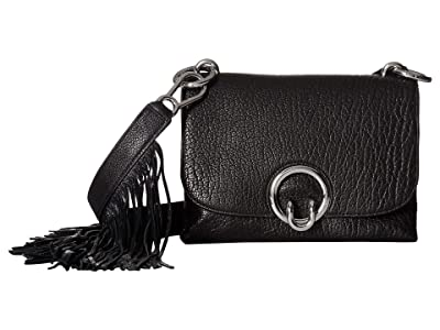 Rebecca Minkoff Isabel Crossbody w/ Fringe (Black) Cross Body Handbags