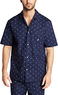 Men's Short Sleeve 100% Cotton Soft Woven Button Down...