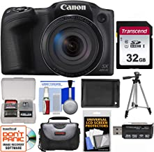 Canon PowerShot SX420 is Wi-Fi Digital Camera (Black) with 32GB Card + Case + Battery + Tripod + Kit