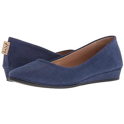 French Sole Zeppa Flat (Blue Stingray) Women