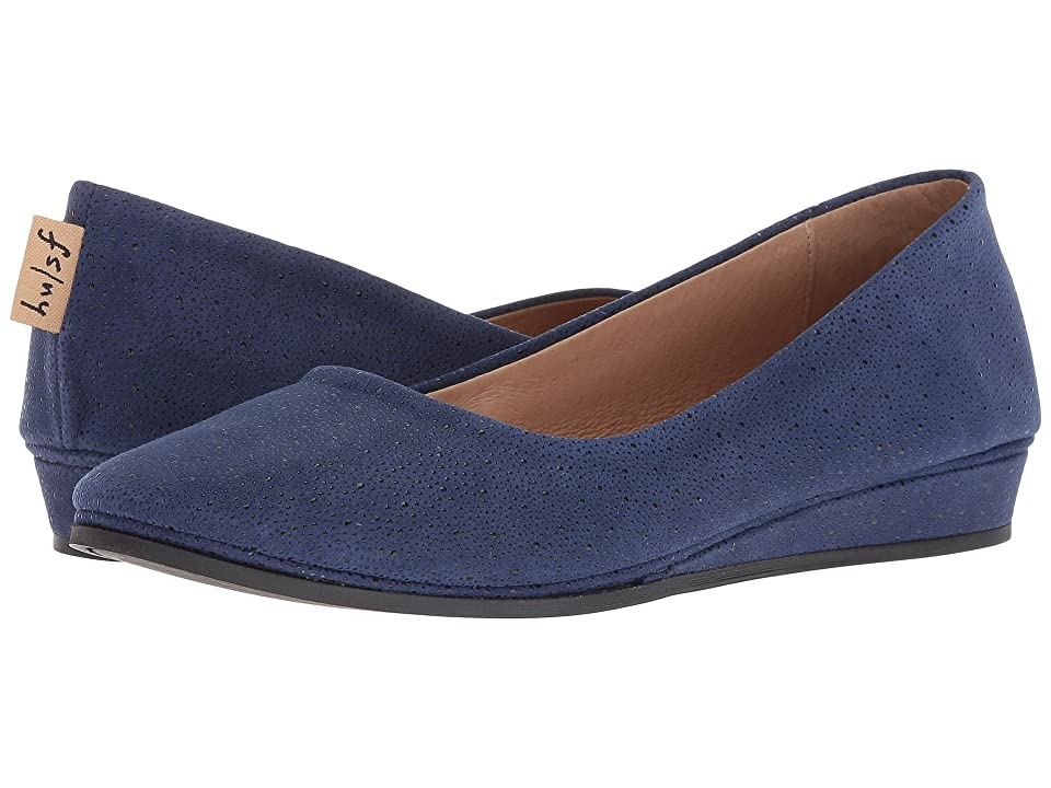 French Sole Zeppa Flat (Blue Stingray) Women