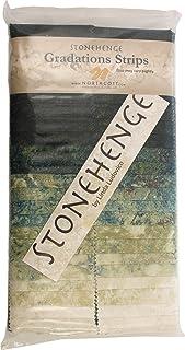 Stonehenge Gradations Robin's Egg Stone Strips 40 2.5-inch Strips Jelly Roll Northcott
