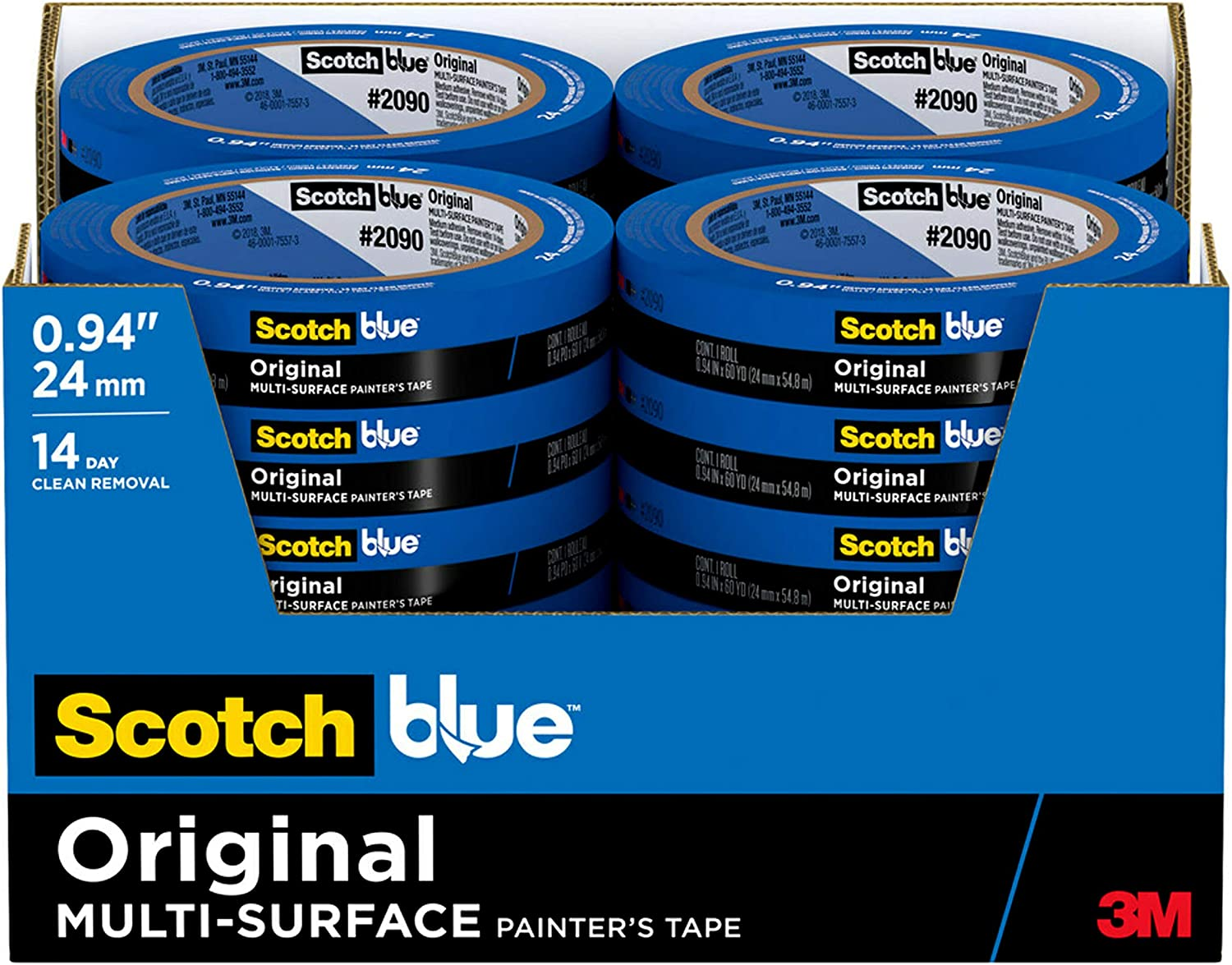 ScotchBlue Original Safety and trust Multi-Surface Recommended Painter's Tape 0.94 2090-24EC