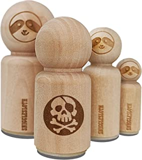 Pirate Skull and Crossbones Jolly Roger Rubber Stamp for Stamping Crafting Planners - 1/2 Inch Mini