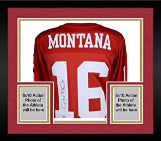 Framed Joe Montana San Francisco 49ers Autographed Mitchell & Ness Red Replica Jersey - Fanatics Authentic Certified