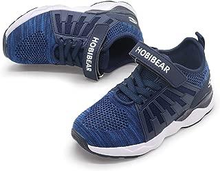 PANDANINJIA Boy's Girl's Athletic Running Tennis Sport Shoes Lightweight Hiking Mesh Knit Sneakers (Toddler/Little Kid/Big Kid)
