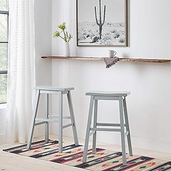 "Amazon Brand – Stone & Beam Casual Geometric Kilim Cotton Runner Rug, 2' 6"" x 8', Flatweave, Blue, Orange, Ivory"