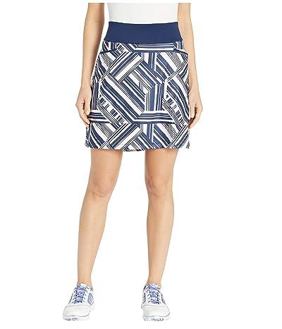 adidas Golf Ultimate Knit 18 Printed Skort (Night Indigo/True Pink) Women