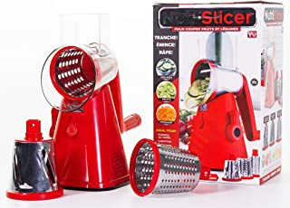 NUTRISLICER 3-in1 Spinning/Rotating Mandoline and Countertop Food Slicer, Chopper, and Grater As Seen On TV