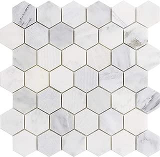 Emser Tile M05WINTFR1212M2H Winter Frost Hex Mix Mo/121 Ceramic Tiles, 2