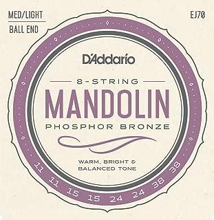 D'Addario EJ70 Phosphor Bronze Mandolin Strings, Ball End,  Medium/Light, 11-38