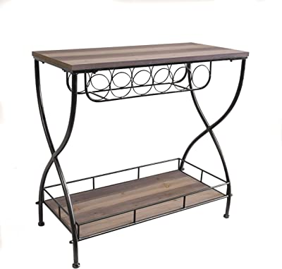 Amazon.com: ACME Deron Chrome and Glass Sofa Table: Kitchen ...