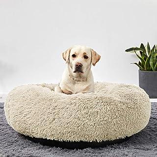 Best Washable Dog Round Bed Large Dogs, Donut Dog Bed Medium Dog, Comfy Dog Calming Cuddler Bed Review