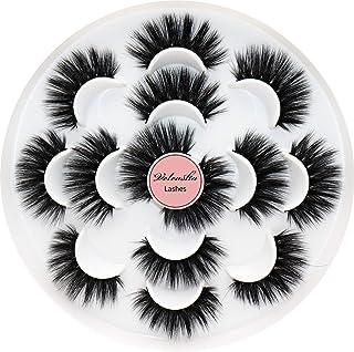 Veleasha Eyelashes Fluffy Volume Faux Mink Lashes 5D Multi-layered Effect & Reusable | 7 Pair Pack | Mulan