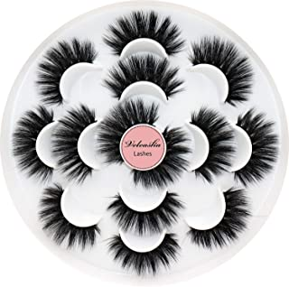 Veleasha Eyelashes Fluffy Volume Faux Mink Lashes 5D Multi-layered Effect & Reusable | 7 Pair Pack | Mulan