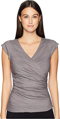 Cotton Metal V-Neck Top
