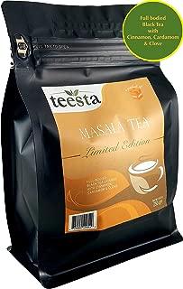 TEESTA - Original Indian Spiced Masala Chai | 8.8oz / 250gm / 125cups | Loose leaf chai tea | 100% Natural spices, No added flavoring & High Energy Teas
