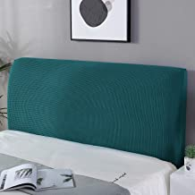 WOMACO Bed Headboard Slipcover Stretch Head Borad Cover Jacquard Thick Fabric Bed Head Protector for Bedroom Decor (Peacoc...