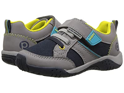 pediped Justice Flex (Toddler/Little Kid) (Grey/Navy) Kid