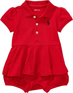 Ralph Lauren Baby - Cotton Peplum Polo Shortalls (Infant)