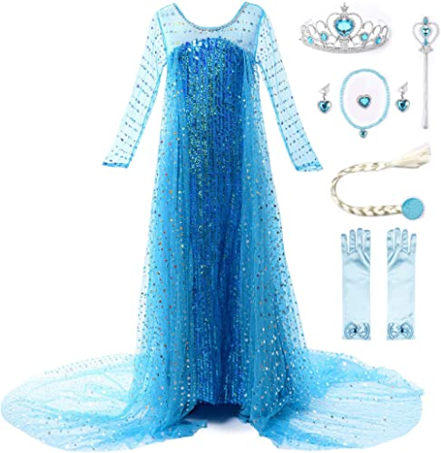 JerrisApparel Girls Princess Costume Birthday Party Christmas Fancy Dress up