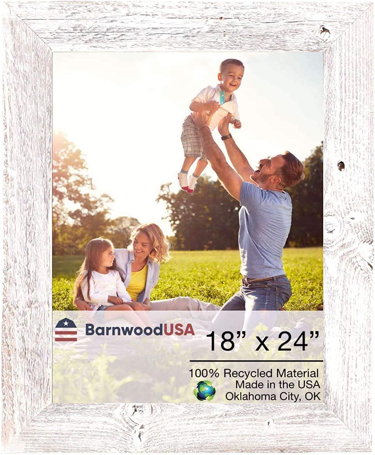 BarnwoodUSA Farmhouse 18x24 Picture Frame Lowest price challenge 2 Molding inch Cheap mail order shopping 1