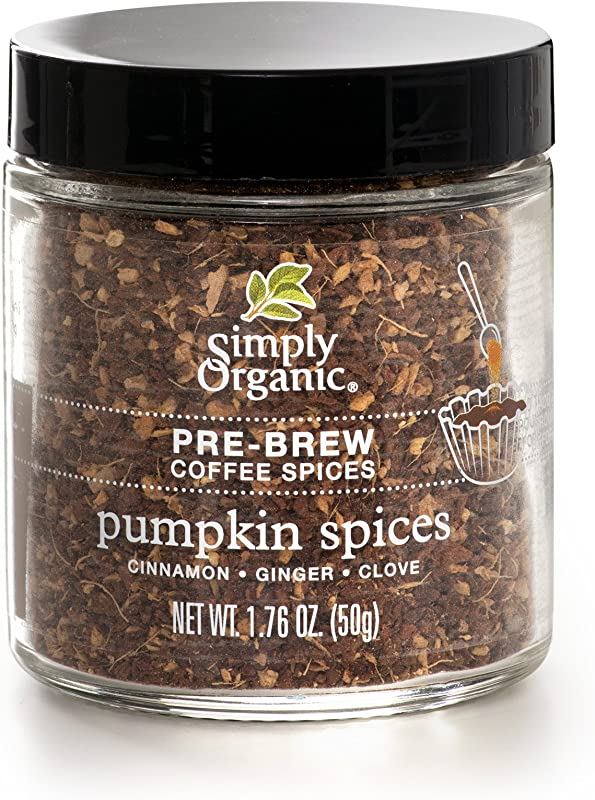 Simply Organic Pumpkin Spices Pre Brew Coffee Spice Certified Organic 1 76 Oz