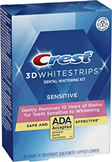 Crest 3D White Gentle Routine Dental Whitening Kit 14 Treatments Whitestrips