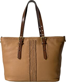 Loralie Whipstitch Medium Zip Top Tote