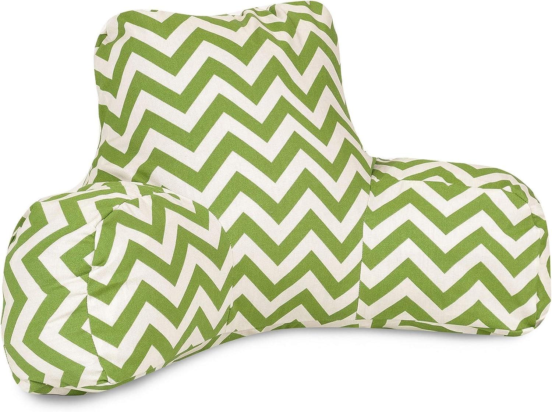 Majestic Home Goods Sage Chevron Reading Pillow