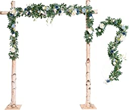 Ling's moment Wedding Arch Decor Flowers 2 Rows 6.5ft Dusty Blue Flower Garlands for Wedding Backdrop Ceremony Decorations