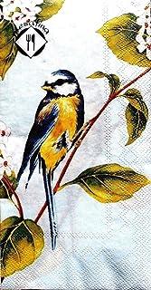 mESAFINA Set of 16 Guest Towels Buffet Decoupage Napkins - Early Bird Blue