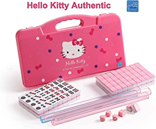 Sanrio ハローキティHello Kitty 144 Travel Tiles Mahjong Set.麻雀 / Light Case / Idea for Birthday Gift / Authorized Seller