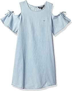 denim dress cold shoulder