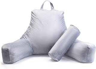 Milliard Reading Pillow with Shredded Memory Foam, Great as Backrest for Books or Gaming..