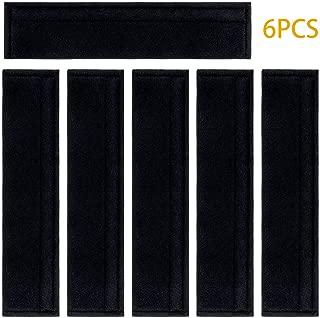 6PCS Car Seat Belt Covers Soft Faux Sheepskin Shoulder Strap Pad for Adults (Black)