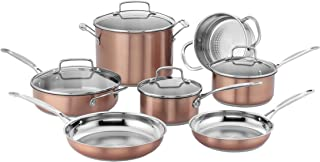 Cuisinart CSS-11BU Chef's Classic Stainless Cookware Set, Medium, Copper