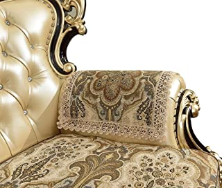 Sideli Super Soft Velvet Sofa Arm Protector Nonslip Slipcover Luxury Sofa Throw Arm Pad Furniture Protector Sold by Set Non-Slip (ECoffee, 2PC-Arm Cover 20x24)