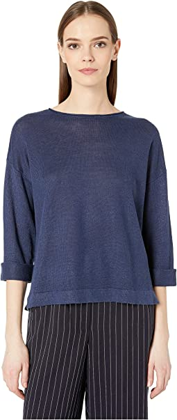 Round Neck 3/4 Sleeve Top
