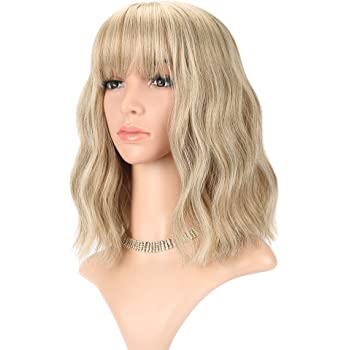 Forever Young Ladies Short Blonde Wig Bob Style in 2 Tone