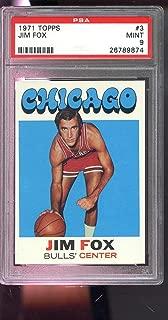 1971-72 Topps #3 Jim Fox Chicago Bulls NBA MINT PSA 9 Graded Basketball Card