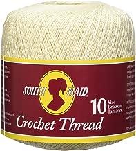 Coats Crochet South Maid Crochet, Cotton Thread Size 10, Cream