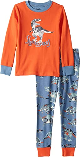 Sleepasarus Organic Cotton Applique Pajama Set (Toddler/Little Kids/Big Kids)