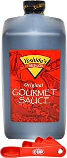 Mr. Yoshida's Original Gourmet, Sweet & Savory Marinade & Cooking Sauce 88 Ounce with By The Cup Swivel Spoons