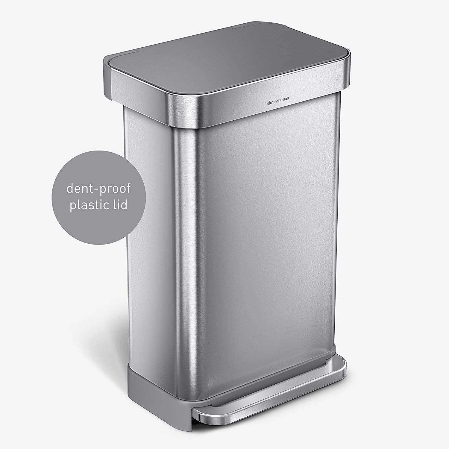 simplehuman Rectangular Hands-Free Kitchen Lid T Genuine Max 70% OFF Free Shipping Step Soft-Close