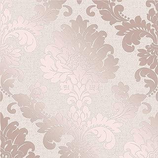 Quartz Damask Wallpaper Rose Gold Fine Decor FD42204