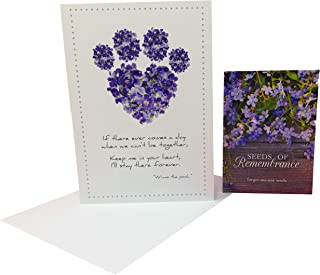 Dog Speak Pet Sympathy Card & Bentley Seed Co. Forget Me Not Seed Packet Memorial Gift Set