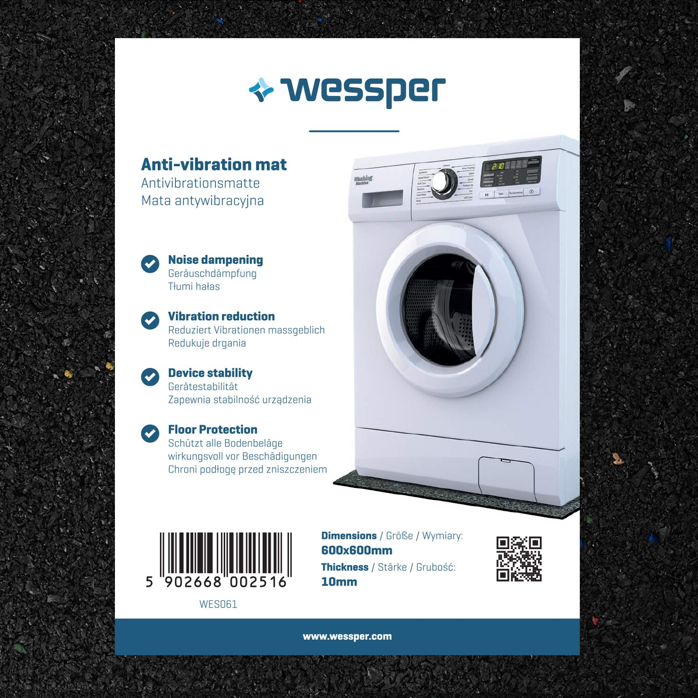 Wessper Estera de la Lavadora para Bosch WOT24551OE (60 x 60 x 1cm): Amazon.es: Hogar