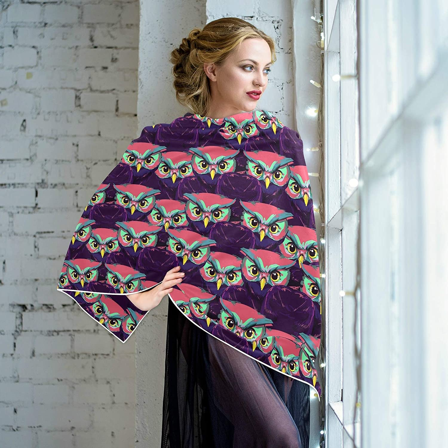 Scarf for Women and Men Owl Blanket Shawl Scarf wraps Warm soft Winter Oversized Scarves Lightweight