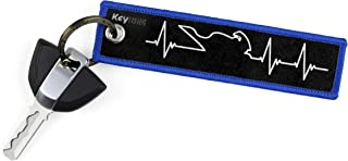 KEYTAILS Keychains, Premium Quality Key Tag for Motorcycle, Car, Scooter, ATV, UTV [Sportbike - Heartbeat]